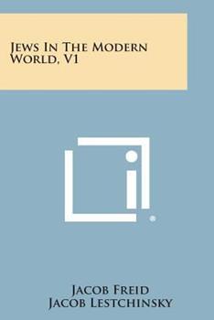 Paperback Jews in the Modern World, V1 Book