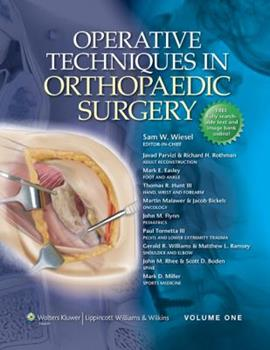 Operative Techniques in Orthopaedic Surgery (includes full video package) 0781763703 Book Cover