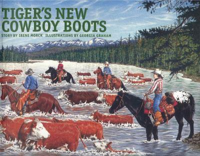 Tiger's New Cowboy Boots 0889951535 Book Cover