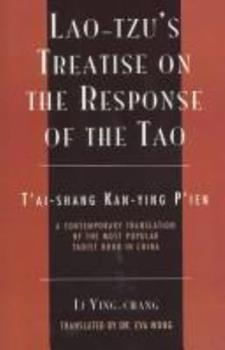 Lao-Tzu's Treatise on the Response of the Tao (The Sacred Literature) 0060649569 Book Cover