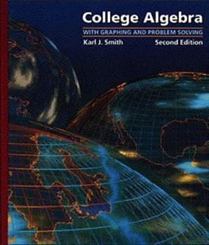 College Algebra with Graphing and Problem Solving (Precalculus) 0534193749 Book Cover