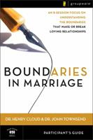 Boundaries in Marriage: Participant's Guide 0310246156 Book Cover