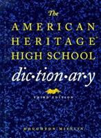 The American Heritage High School Dictionary 0395671485 Book Cover