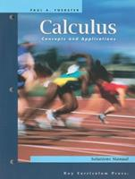 Calculus Concepts and Applications: Solutions Manual 1559536578 Book Cover
