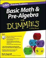1,001 Basic Math & Pre-Algebra Practice Problems for Dummies Access Code Card (1-Year Subscription)