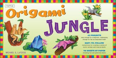 Origami Jungle (Kit with Book & Paper) 0804835780 Book Cover