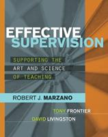 Effective Supervision: Supporting the Art and Science of Teaching 141661155X Book Cover