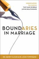 Boundaries in Marriage 0310225655 Book Cover