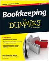 Bookkeeping For Dummies (For Dummies (Business & Personal Finance)) 0764598481 Book Cover