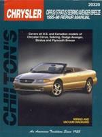 Chrysler: Cirrus/Stratus/Sebring/Avenger/Breeze 1995-98: Covers all U.S. and Canadian models of Chrysler Cirrus, Sebring, Dodge Avenger, Stratus and Plymouth ... (Chilton's Total Car Care Repair Manua 0801990904 Book Cover