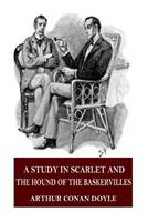 A Study in Scarlet / The Hound of the Baskervilles 089577254X Book Cover