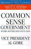Creating a Government That Works Better and Costs Less: The Report of the National Performance Review 0679771328 Book Cover