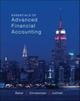 Essentials of Advanced Financial Accounting with Connect Plus 0078025648 Book Cover