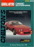 GM Camaro, 1982-92 (Chilton's Total Car Care Repair Manual) 080198260X Book Cover