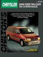Chrysler Caravan, Voyager, and Town & Country, 1984-95 (Chilton's Total Car Care Repair Manual) 0801987962 Book Cover