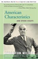 American Characteristics and Other Essays 0060146397 Book Cover