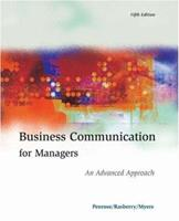 Business Communication for Managers: An Advanced Approach 0324200080 Book Cover