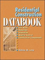 Residential Construction Databook 0071370439 Book Cover