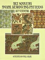 Art Nouveau Animal Designs and Patterns: 60 Plates in Full Color 0486272184 Book Cover