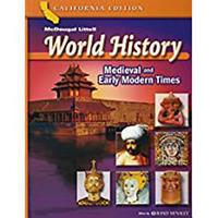 World History Medieval And Early Modern Times: California Edition 0618532943 Book Cover