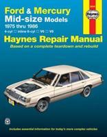 Ford & Mercury Midsize Sedans '75'86 (Haynes Manuals) 1850103887 Book Cover
