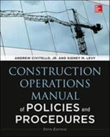 Construction Operations Manual of Policies and Procedures 0070110484 Book Cover