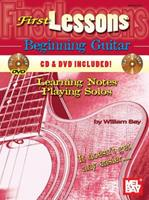First Lessons Beginning Guitar: Learning Notes / Playing Solos 0786662506 Book Cover