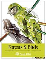 Forests and Birds: A Stunning Colouring Book of New Zealand Forests and Birds 1544711379 Book Cover