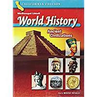 World History: Ancient Civilizations, California Edition Grade 6 (2-01904) 0618531246 Book Cover