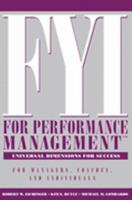 FYI For Performance Management: For Managers, Coaches, and Individuals (CD Included) 1933578122 Book Cover