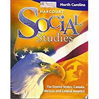 Harcourt Social Studies North Carolina: Student Edition (5-Year Subscription) Grade 5 Us/Canada/Mexico/Central America 2009 015356640X Book Cover