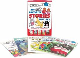 I Can Read My Favorite Stories Box Set: Happy Birthday, Danny and the Dinosaur!; Clark the Shark: Tooth Trouble; Harry and the Lady Next Door; The Berenstain Bears: Down on the Farm; Splat the Cat Mak 0062385348 Book Cover