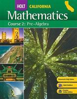 Holt California Mathematics , Course 2: Pre-Algebra 0030385121 Book Cover