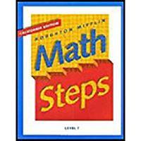 Math Steps Pe California Level 7 00 0395980143 Book Cover