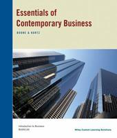 Essentials of Contemporary Business 1118824512 Book Cover
