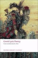 Greek Lyric Poetry 0192836781 Book Cover