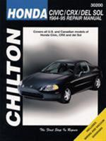 Honda Civic, CRX, and del Sol, 1984-95 (Chilton's Total Car Care Repair Manual) 0801986834 Book Cover