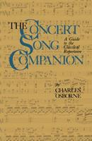 The Concert Song Companion: A Guide to the Classical Repertoire (Quality Paperbacks Series) 1475700512 Book Cover