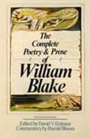 The Complete Poetry & Prose of William Blake 0192810502 Book Cover