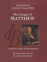 Ignatius Catholic Study Bible: The Gospel of Matthew 0898708176 Book Cover