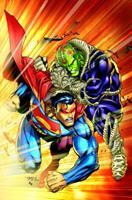 Superman vs. Brainiac 1401219403 Book Cover