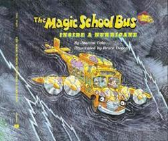 The Magic School Bus Inside A Hurricane (Magic School Bus) 0590446878 Book Cover