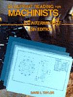 Blueprint Reading for Machinists: Intermediate (Delmar Print Reading Series) 0827347324 Book Cover
