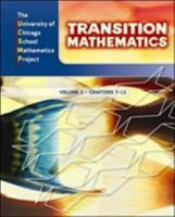 UCSMP Transition Mathematics: Student Edition, Volume 2 / Chapters 7-12 007618580X Book Cover