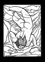 William Blake Stained Glass Colouring Book (Dover Pictorial Archive) 0486446670 Book Cover