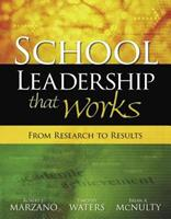 School Leadership That Works: From Research to Results 1416602275 Book Cover