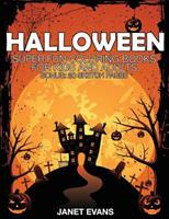 Halloween: Super Fun Coloring Books for Kids and Adults (Bonus: 20 Sketch Pages) 1633832341 Book Cover