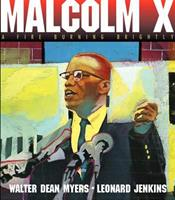 Malcolm X: A Fire Burning Brightly 0060277084 Book Cover