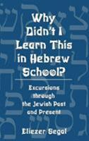 Why Didn't I Learn This in Hebrew School?: Excursions Through the Jewish Past and Present 0765760762 Book Cover