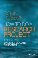 How to do a Research Project: A Guide for Undergraduate Students 1405114894 Book Cover